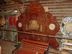 54-keyless �Unpainted Organ.� Originally a barrel organ, with fa�ade possibly made by Bruder. N.C. Music Hall; from B.A.B. hoard.